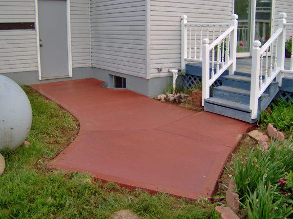 Использование цветного бетона для декоративного оформления