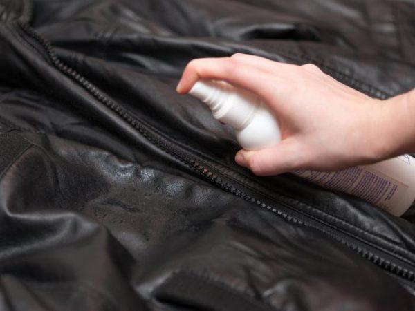 Покраска кожаной куртки из аэрозольного баллончика