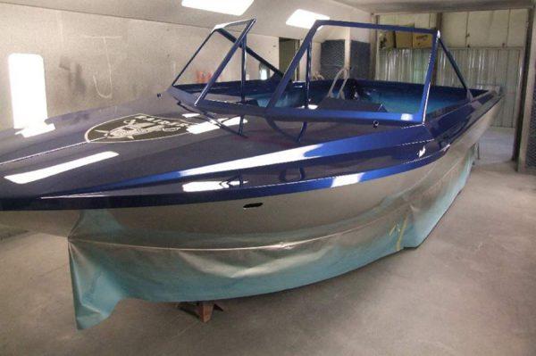 Покраска лодки из дюраля