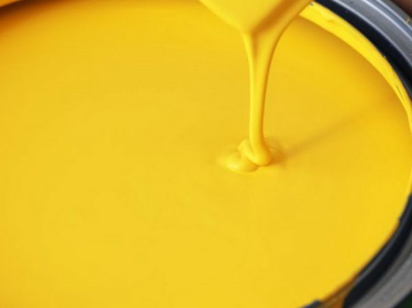 Желтая краска