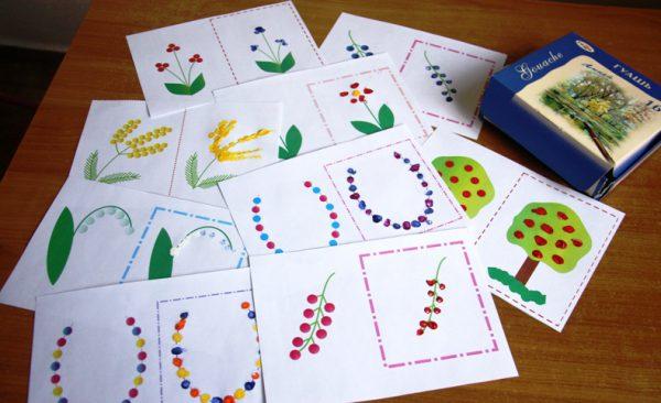 Рисование пальчиковыми красками по шаблонам