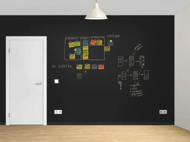 Грифельная краска для стен веселые нотки в современном интерьере