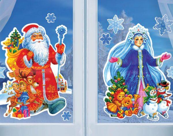Классическим сюжетом для новогодних рисунков являются Дед Мороз и Снегурочка