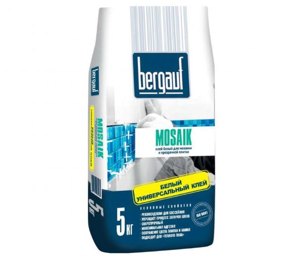 Клей для плитки и мозаики Bergauf Mosaik