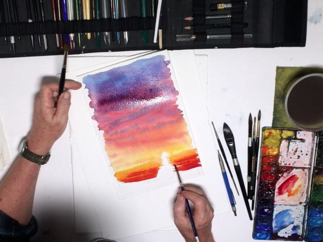 risunki-akvarelyu-dlya-nachinayushhix Рисунки красками для начинающих: различные техники ( 38 фото)