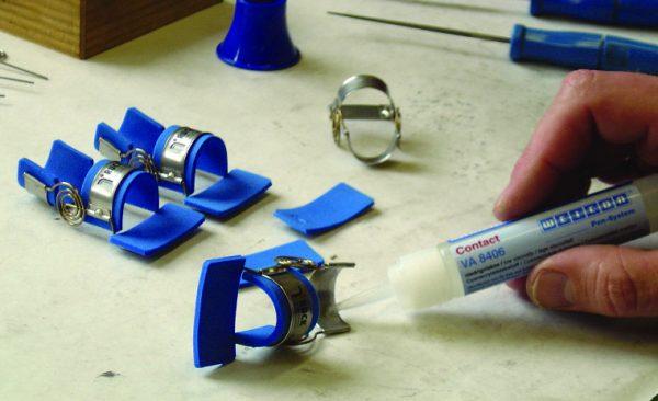 Соединение резины с металлом