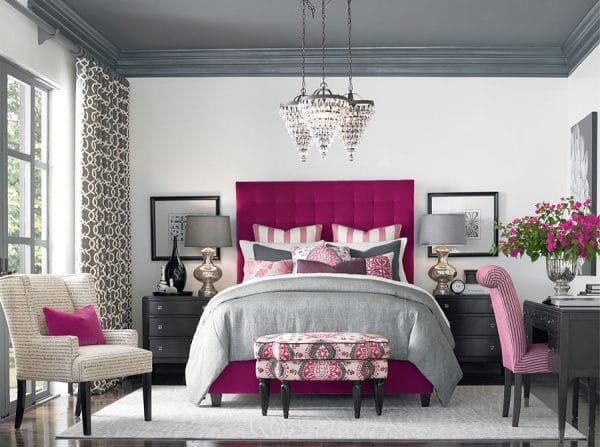 Спальня с элементами фуксии