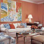 Гостиная в нежно-розовых тонах