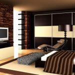 Темно-шоколадный цвет в гостиной