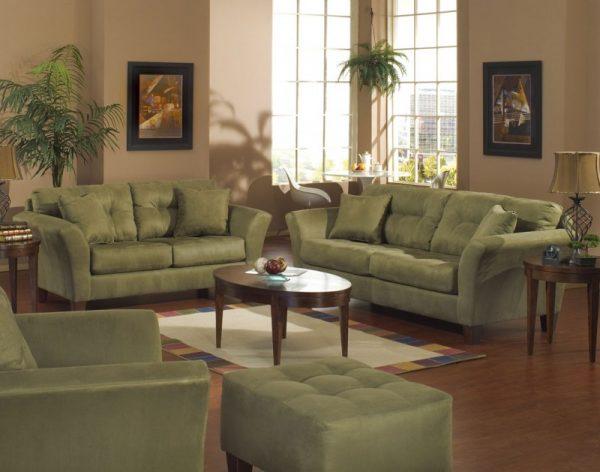 Оливковые диваны и кресла