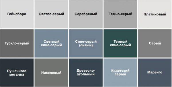 Оттенки цвета