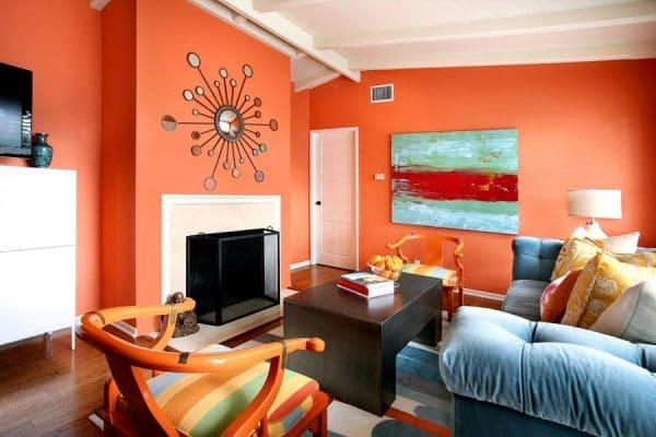 Пример использования оранжевого тона