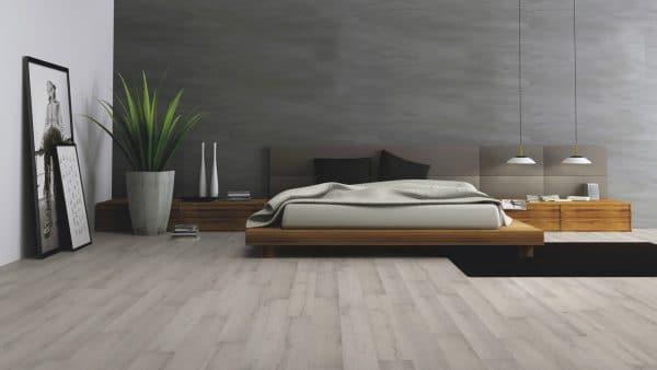 Серый цвет для стен и пола часто используют в стиле минимализм