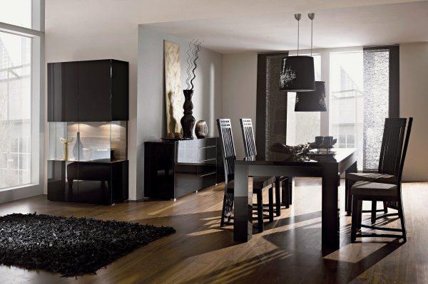 Использование мебели черного цвета в интерьере