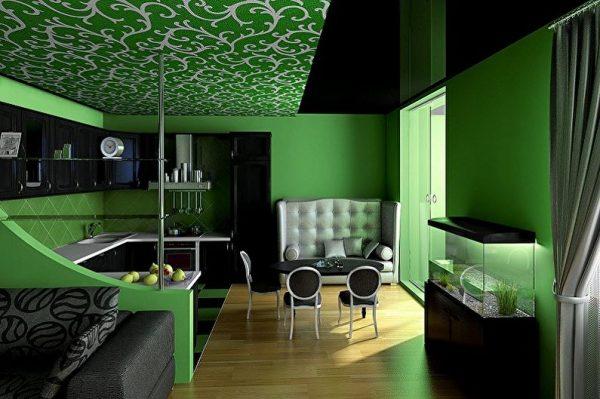 Зеленый визуально расширяет пространство