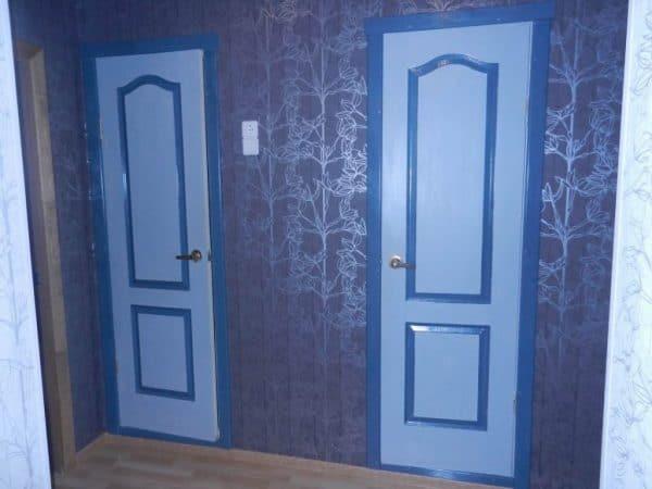 Покраска дверей разными красками