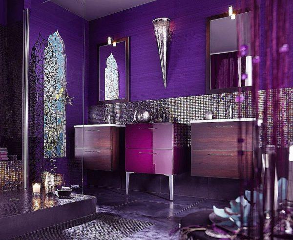 Применение разных оттенков фиолетового в арт-деко