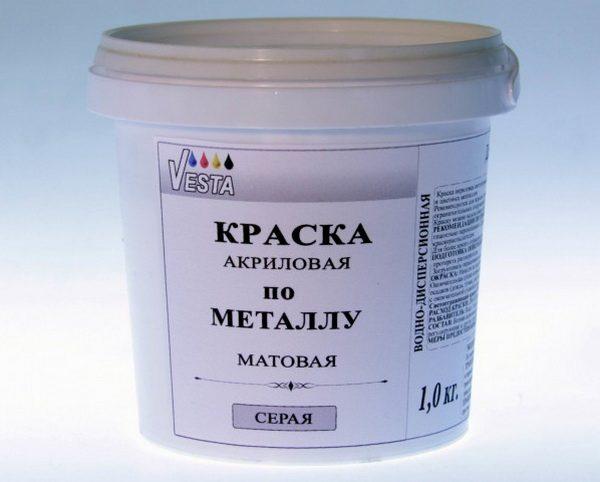 Акриловая краска по металлу