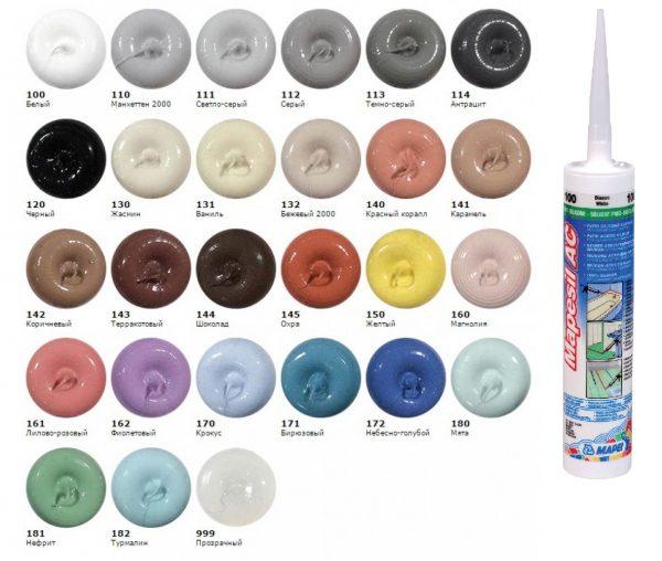 Цветовая гамма герметиков