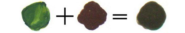 Хаки из коричневого и зеленого