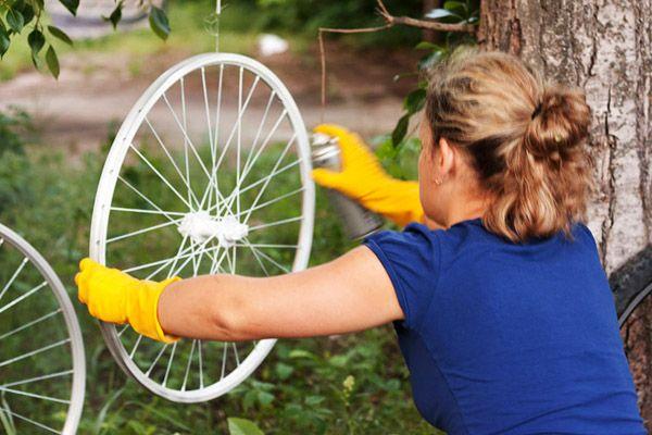 Перекраска велосипедных колес