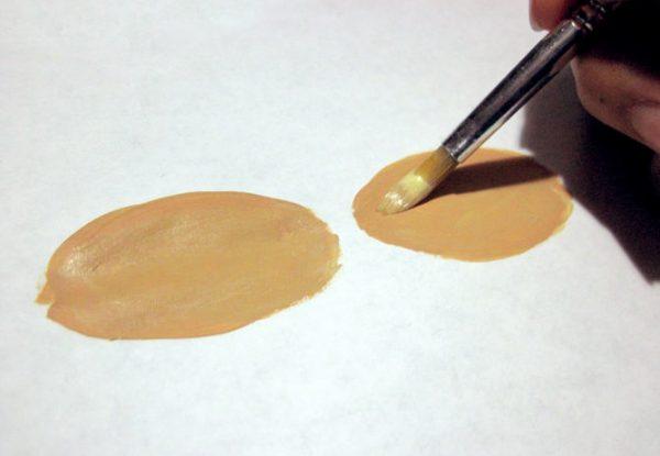 Создание светло-телесного цвета из гуаши
