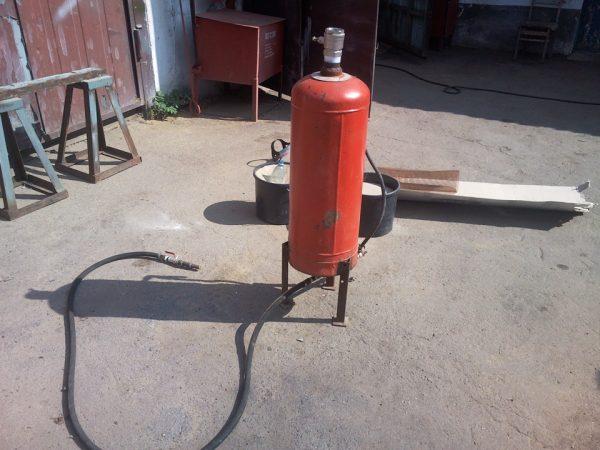 Агрегат из газового баллона