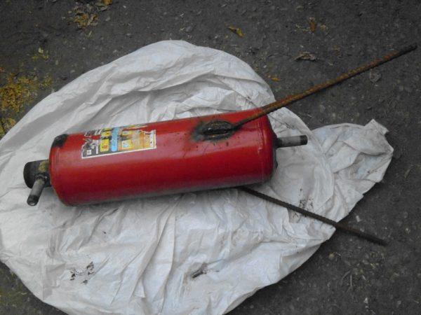 Изготовление из огнетушителя