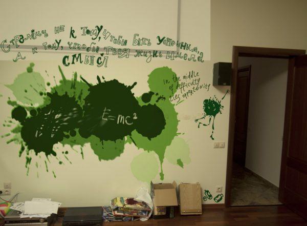 Кляксы на стене