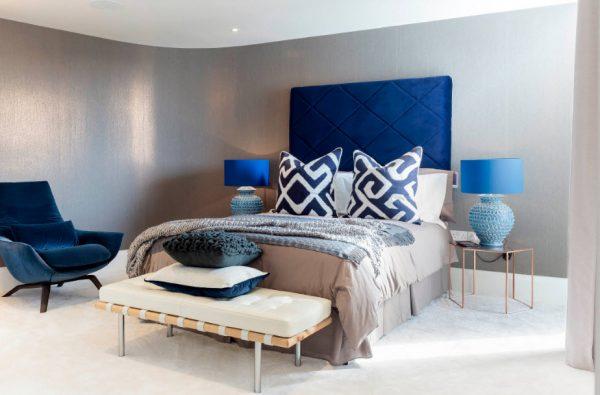 Комната в оттенках синего цвета
