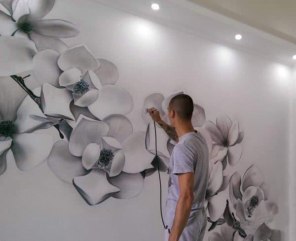 Рисунки аэрографом на стенах