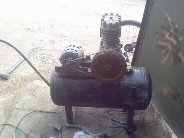 Старый компрессор можно приобрести для небольшого объема работ