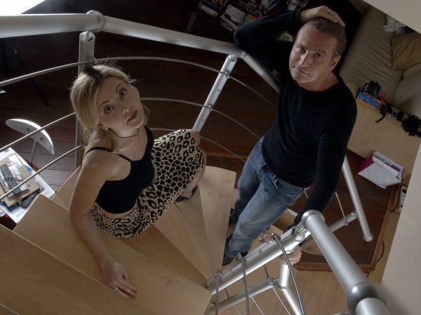Никелированная лестница