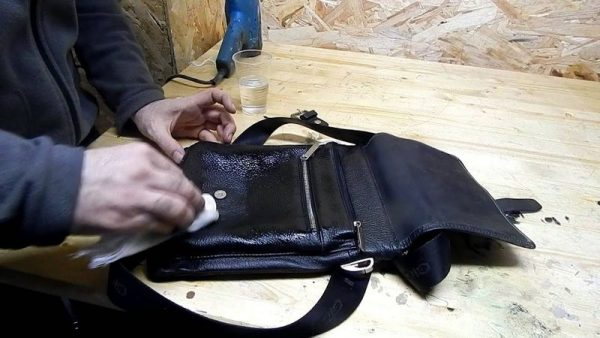 Покраска сумки