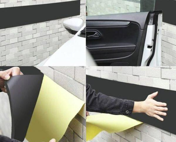Защитная полоса в гараж, чтобы не оцарапать двери при открывании