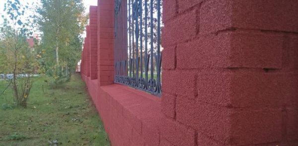 Отделка фасада с помощью пробкового напыления