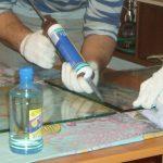 Использование стекольного герметика