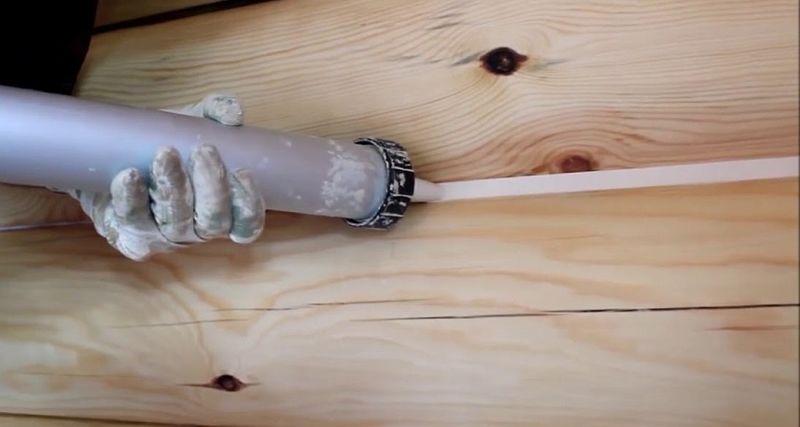 Теплый шов для деревянного дома своими руками
