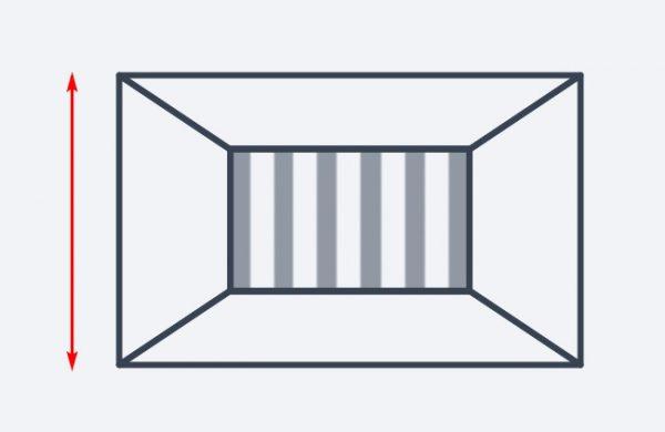 Вертикальные полосы на стене