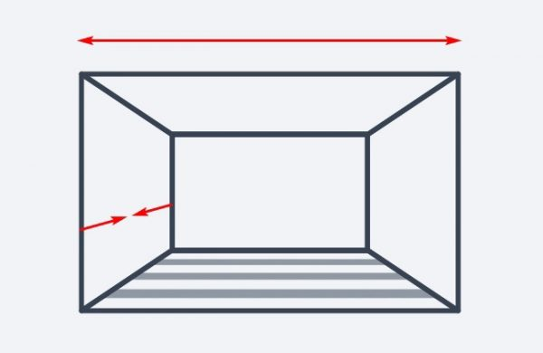 Полосы на полу комнаты