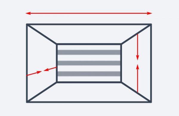 Горизонтальные линии на стене