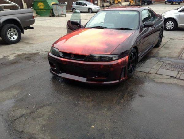 Автомобиль покрашенный термохромной краской