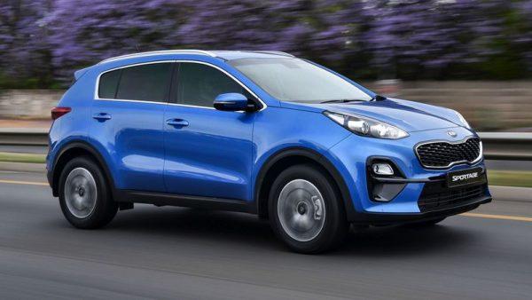 Автомобиль КИА синего цвета