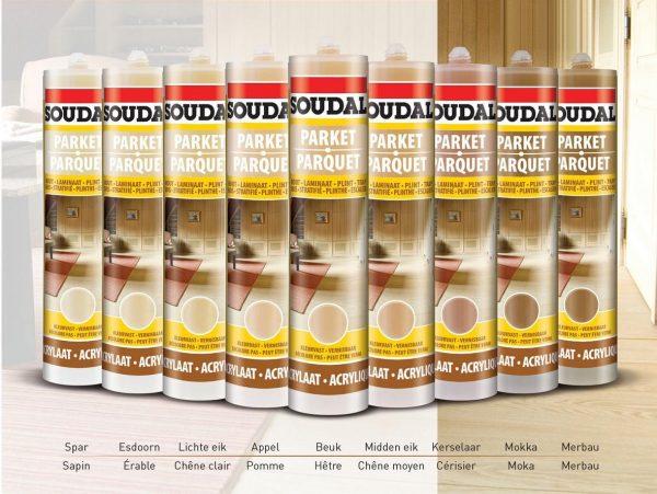 Цветовая гамма паркетного герметика Soudal