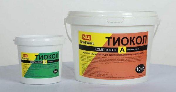 Двухкомпонентная тиоколовая герметизирующая паста