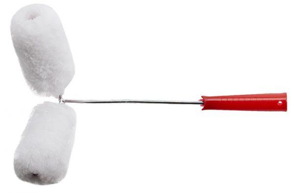 Инструмент для нанесения краски с двойным валиком