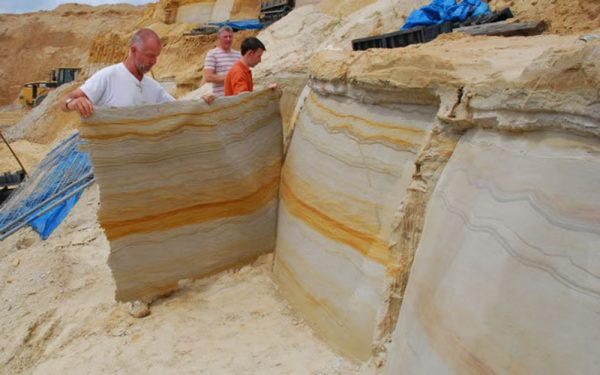 Изготовление гибкого отделочного материала из песчаника