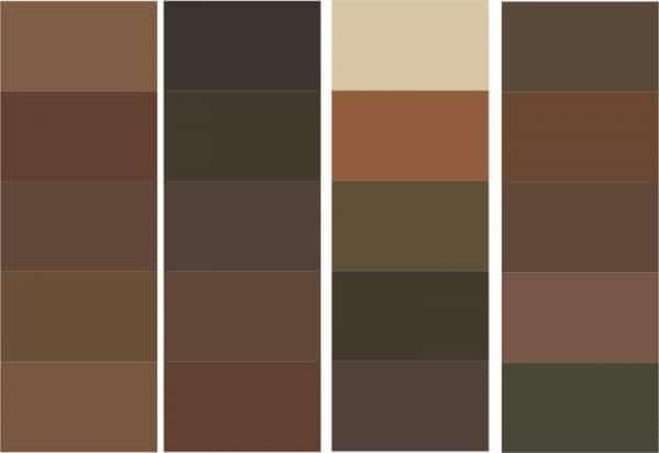 Оттенки цвета Умбра