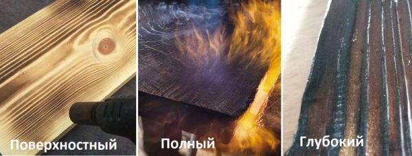 Типы обжига древесины