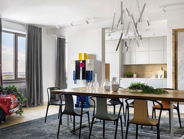 Оформление столовой и кухни